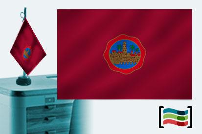 Bandera de Córdoba sobremesa bordada
