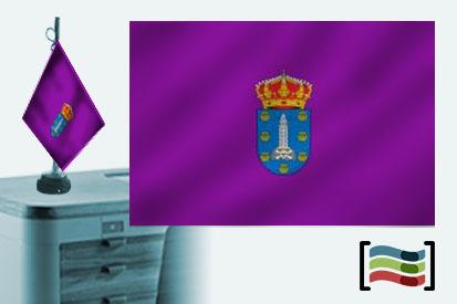 Bandera de Coruña sobremesa bordada