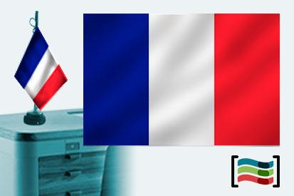 Bandera de Francia sobremesa bordada