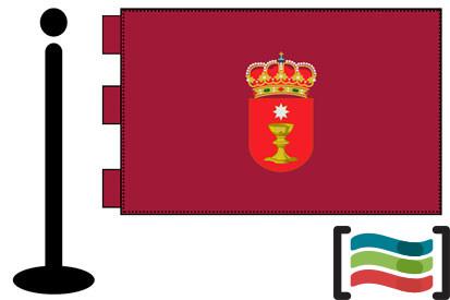 Bandera de Cuenca sobremesa bordada