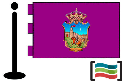Bandera de Guadalajara sobremesa bordada