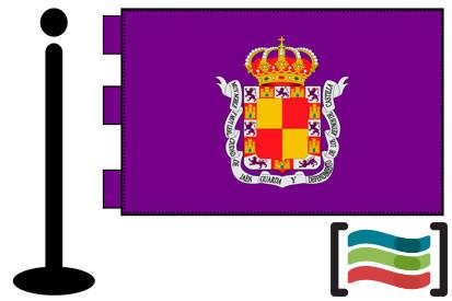 Bandera de Jaén sobremesa bordada