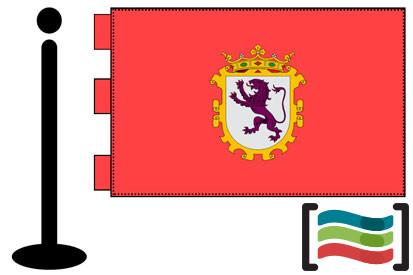 Bandera de León sobremesa bordada