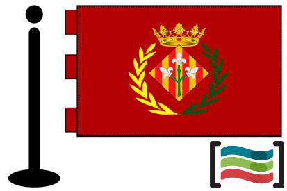 Bandera de Lleida sobremesa bordada