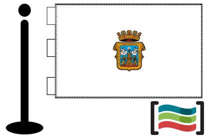 Bandera de Lugo sobremesa bordada