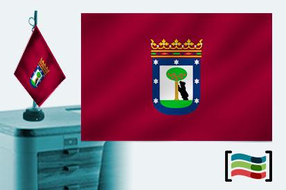Bandera de Madrid sobremesa bordada