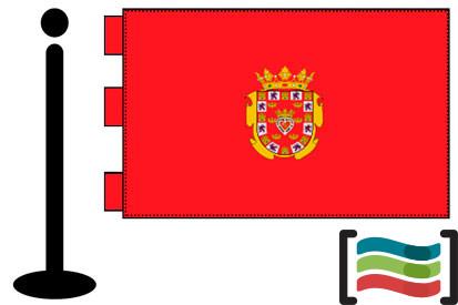 Bandera de Murcia sobremesa bordada