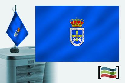Bandera de Oviedo sobremesa bordada