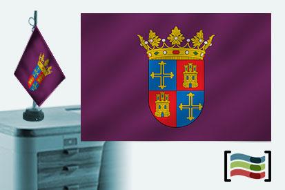 Bandera de Palencia sobremesa bordada
