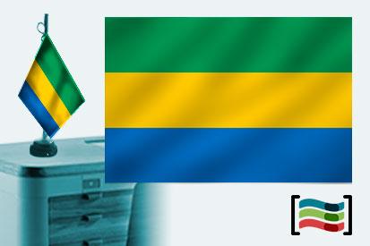 Bandera de Gabón sobremesa bordada