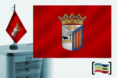 Bandera de Salamanca sobremesa bordada