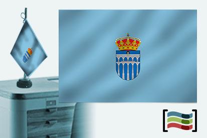 Bandera de Segovia sobremesa bordada