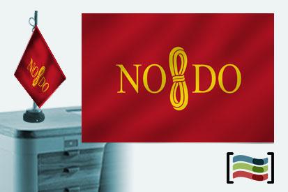 Bandera de Sevilla sobremesa bordada