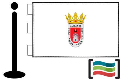 Bandera de Soria sobremesa bordada