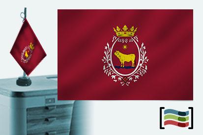 Bandera de Teruel sobremesa bordada
