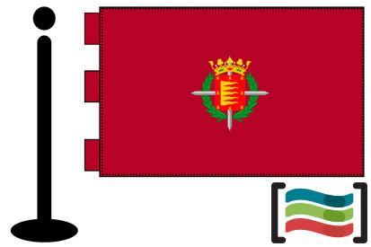 Bandera de Valladolid sobremesa bordada