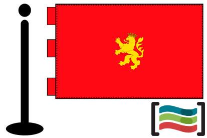 Bandera de Zaragoza sobremesa bordada
