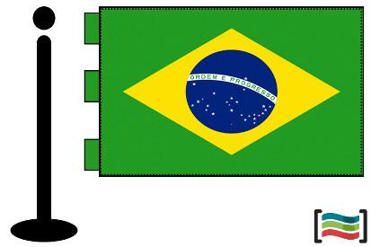 Bandera de Brasil sobremesa bordada