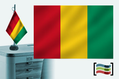 Bandera de Guinea sobremesa bordada