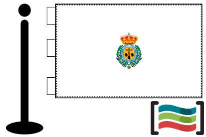 Bandera de Santa Cruz de Tenerife sobremesa bordada