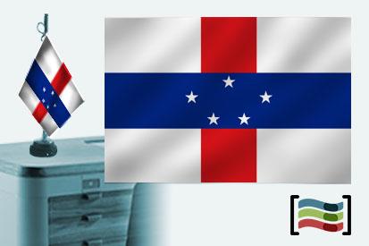 Bandera de Antillas Holandesas sobremesa bordada