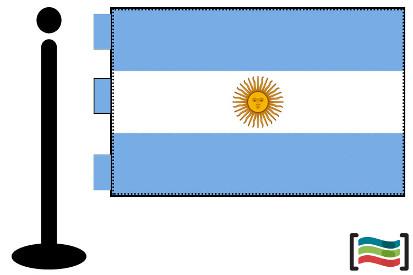 Bandera de Argentina sobremesa bordada
