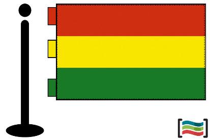 Bandera de Bolivia sobremesa bordada