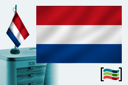 Bandera de Holanda sobremesa bordada