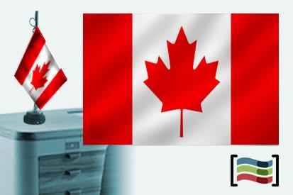 Bandera de Canadá sobremesa bordada