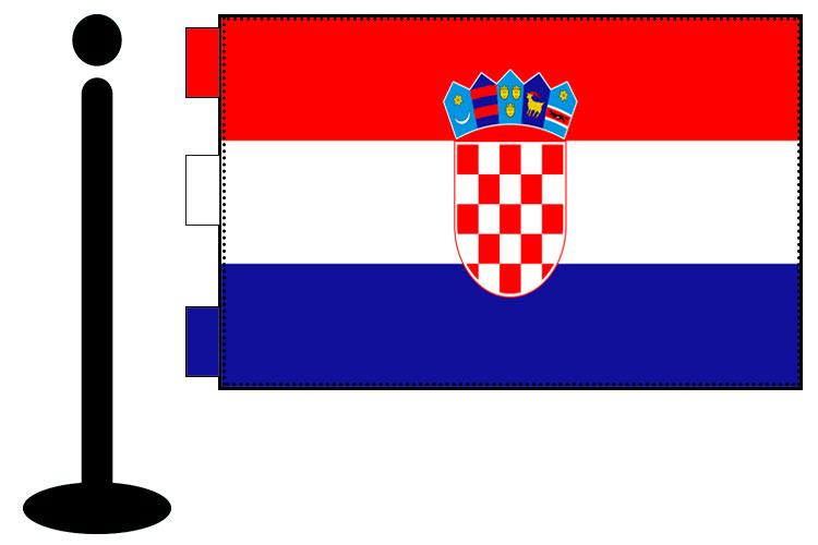 Bandera de Croacia sobremesa bordada