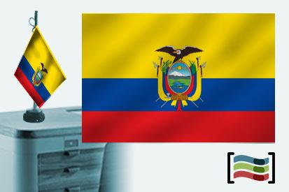 Bandera de Ecuador sobremesa bordada