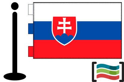 Bandera de Eslovaquia sobremesa bordada