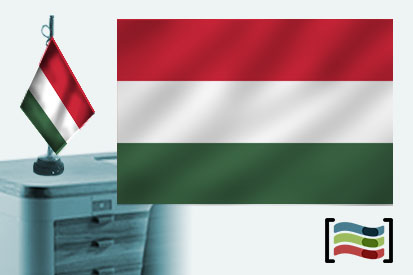 Bandera de Hungría sobremesa bordada