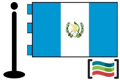 Bandera de Guatemala sobremesa bordada