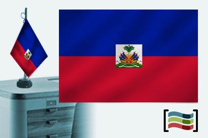 Bandera de Haití sobremesa bordada