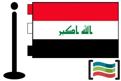 Bandera de Irak sobremesa bordada