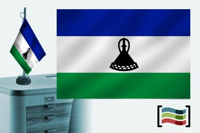 Bandera de Lesotho sobremesa bordada