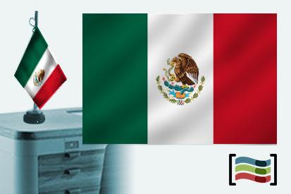 Bandera de Mexico sobremesa bordada