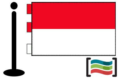 Bandera de Indonesia sobremesa bordada