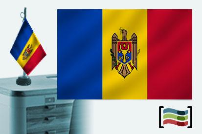Bandera de Moldavia sobremesa bordada