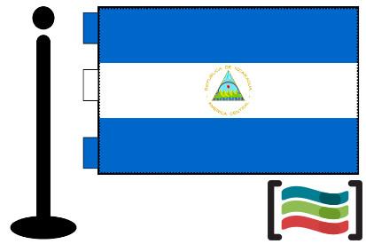 Bandera de Nicaragua sobremesa bordada