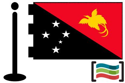 Bandera de Papua Nueva Guinea sobremesa bordada