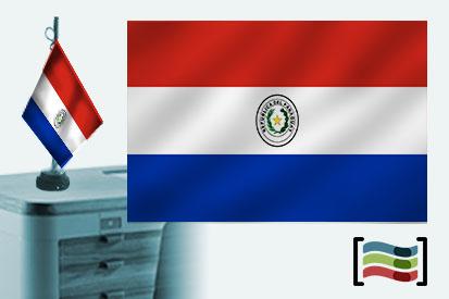 Bandera de Paraguay sobremesa bordada