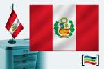 Bandera de Perú sobremesa bordada