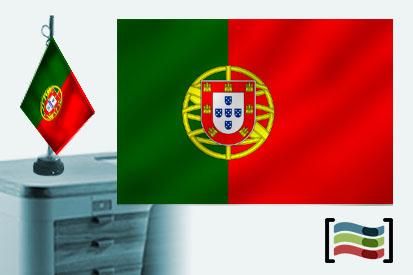 Bandera de Portugal sobremesa bordada