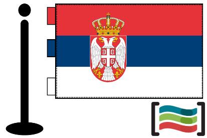 Bandera de Serbia sobremesa bordada