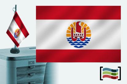 Bandera de Tahiti sobremesa bordada