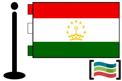 Bandera de Tayikistán sobremesa bordada