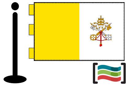 Bandera de Vaticano sobremesa bordada