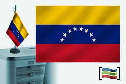 Bandera de Venezuela sobremesa bordada